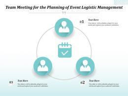 Team Meeting For The Planning Of Event Logistic Management
