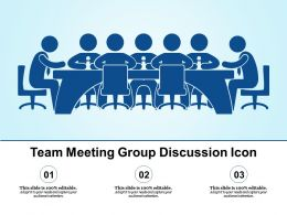 Team Meeting Group Discussion Icon