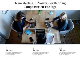 Team Meeting In Progress For Deciding Compensation Package