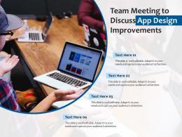 Team Meeting To Discuss App Design Improvements