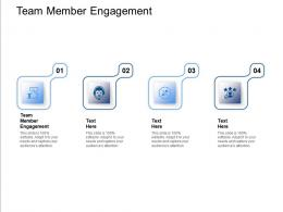 Team Member Engagement Ppt Powerpoint Presentation Layouts Graphics Download Cpb