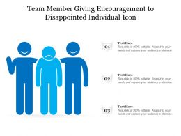 Team Member Giving Encouragement To Disappointed Individual Icon