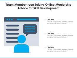 Team Member Icon Taking Online Mentorship Advice For Skill Development