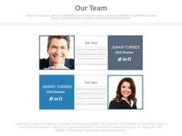 Team Member Introduction For Sales Profile Powerpoint Slides