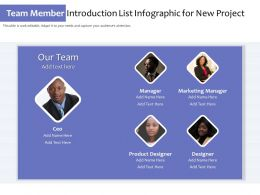 Team Member Introduction List Infographic For New Project