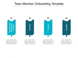 Team Member Onboarding Template Ppt Powerpoint Inspiration Infographics Cpb