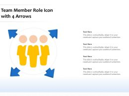 Team Member Role Icon With 4 Arrows
