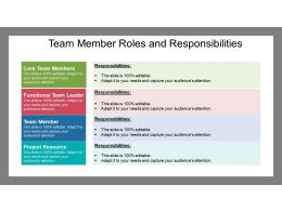 Team Member Roles And Responsibilities Powerpoint Themes