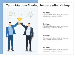 Team Member Sharing Success After Victory