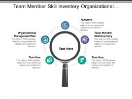 Team Member Skill Inventory Organizational Management Plan Staff Motivation Cpb