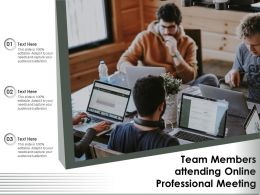 Team Members Attending Online Professional Meeting