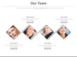 Team Members For Business Communication Powerpoint Slides