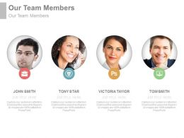 Team Members For Introduction Powerpoint Slide