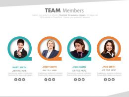 Team Members For Team Strategy Formation Powerpoint Slide