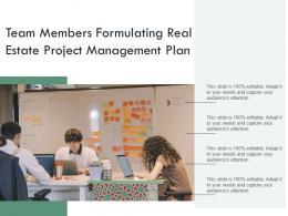 Team Members Formulating Real Estate Project Management Plan