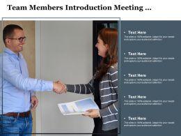 Team Members Introduction Meeting Handshake