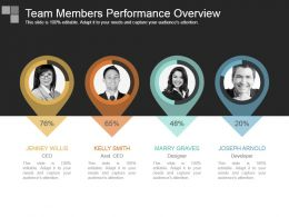 Team Members Performance Overview