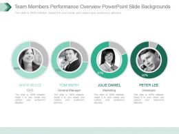 Team Members Performance Overview Powerpoint Slide Backgrounds