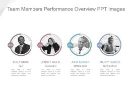 Team Members Performance Overview Ppt Images