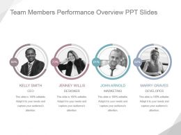 Team Members Performance Overview Ppt Slides