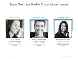 Team Members Profile Presentation Images