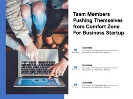 Team Members Pushing Themselves From Comfort Zone For Business Startup