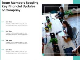 Team Members Reading Key Financial Updates Of Company