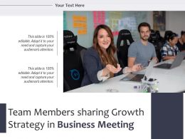 Team Members Sharing Growth Strategy In Business Meeting