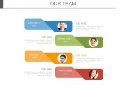Team Members Tags For Team Management Powerpoint Slides