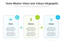 Team Mission Vision And Values Infographic