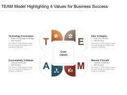 TEAM Model Highlighting 4 Values For Business Success