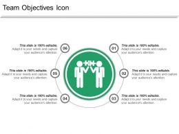 Team Objectives Icon Ppt Sample File