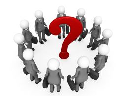 Team Of 3D Men With Question Mark Stock Photo