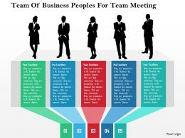 Team Of Business Peoples For Team Meeting Flat Powerpoint Design