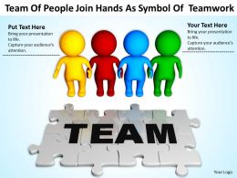 Team Of People Join Hands As Symbol Of Teamwork Ppt Graphics Icons Powerpoint
