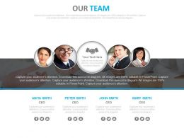 Team Of Professionals For Business Communication Powerpoint Slides