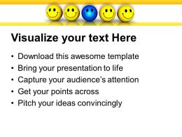 team of smiley with leader powerpoint templates ppt themes and graphics 0213