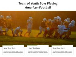 Team Of Youth Boys Playing American Football