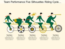 Team Performance Five Silhouettes Riding Cycle Promotion Gear Arrow
