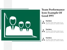 Team Performance Icon Example Of Good Ppt