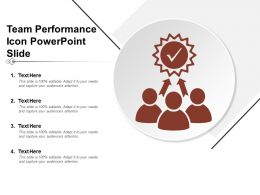 Team Performance Icon Powerpoint Slide