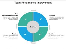 Team Performance Improvement Ppt Powerpoint Presentation Layouts Slide Download Cpb