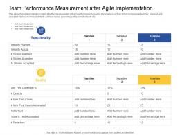 Team Performance Measurement After Agile Implementation Quality Ppt Layout