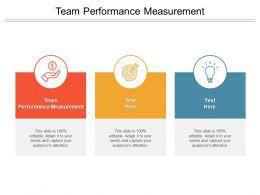 Team Performance Measurement Ppt Powerpoint Presentation Design Cpb