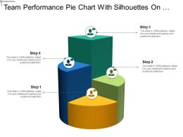 Team Performance Pie Chart With Silhouettes On Top And Comment Bubble