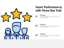 Team Performance With Three Star Trail
