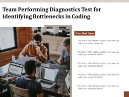 Team Performing Diagnostics Test For Identifying Bottlenecks In Coding