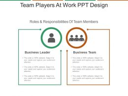 Team Players At Work Ppt Design