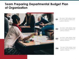 Team Preparing Departmental Budget Plan Of Organization