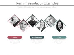 Team Presentation Examples